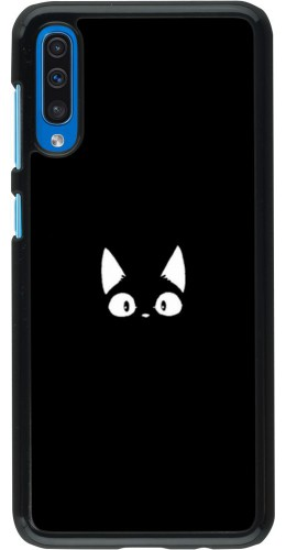 Coque Samsung Galaxy A50 - Funny cat on black