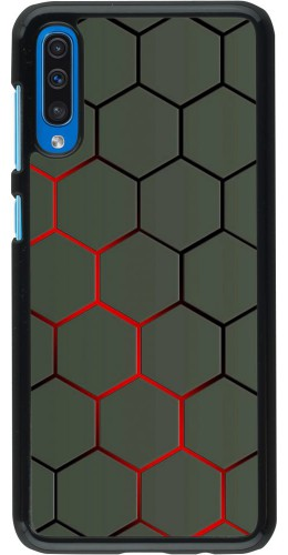 Coque Samsung Galaxy A50 - Geometric Line red