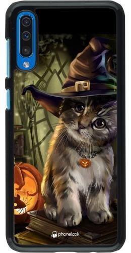 Coque Samsung Galaxy A50 - Halloween 21 Witch cat