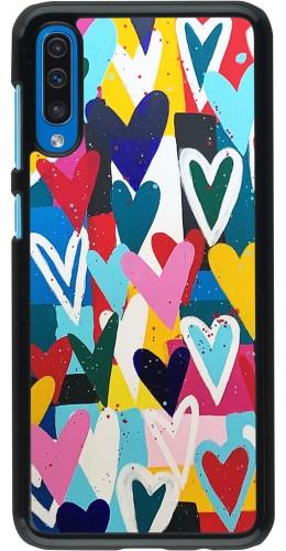 Coque Samsung Galaxy A50 - Joyful Hearts