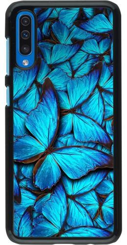 Coque Samsung Galaxy A50 - Papillon bleu