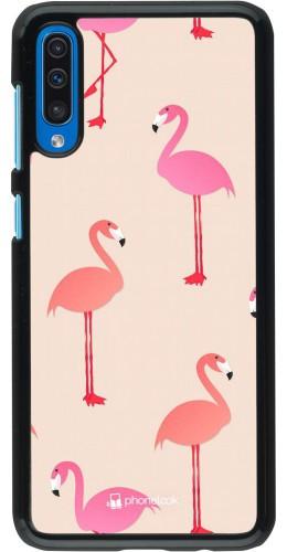 Coque Samsung Galaxy A50 - Pink Flamingos Pattern