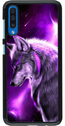 Coque Samsung Galaxy A50 - Purple Sky Wolf