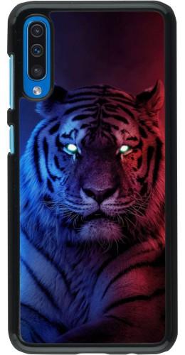 Coque Samsung Galaxy A50 - Tiger Blue Red