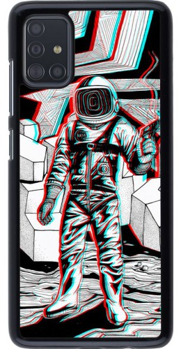 Hülle Samsung Galaxy A51 - Anaglyph Astronaut