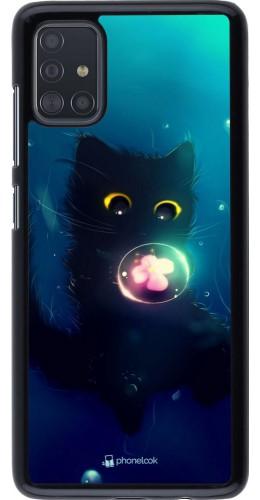Coque Samsung Galaxy A51 - Cute Cat Bubble