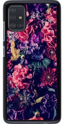 Coque Samsung Galaxy A51 - Flowers Dark