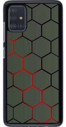 Coque Samsung Galaxy A51 - Geometric Line red