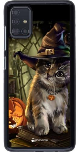 Coque Samsung Galaxy A51 - Halloween 21 Witch cat