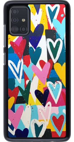 Coque Samsung Galaxy A51 - Joyful Hearts
