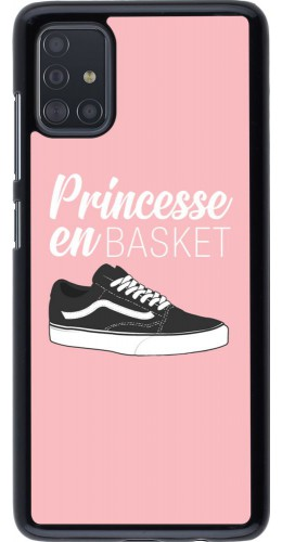 Coque Samsung Galaxy A51 - princesse en basket