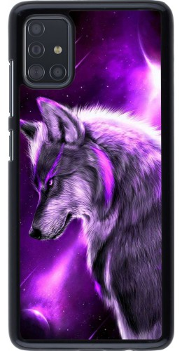 Coque Samsung Galaxy A51 - Purple Sky Wolf