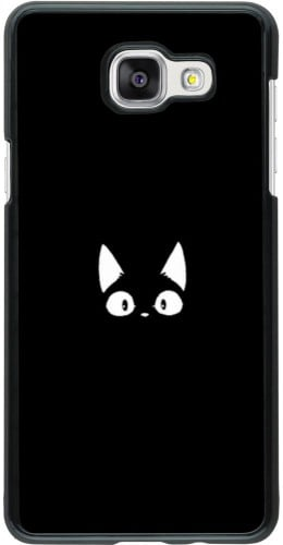 Coque Samsung Galaxy A5 (2016) - Funny cat on black