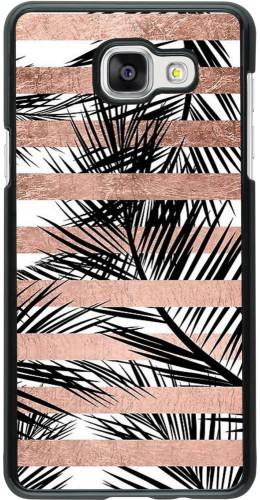 Coque Samsung Galaxy A5 (2016) - Palm trees gold stripes