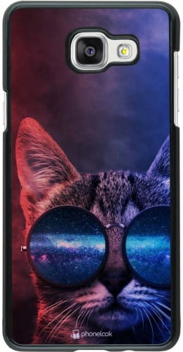 Coque Samsung Galaxy A5 (2016) - Red Blue Cat Glasses