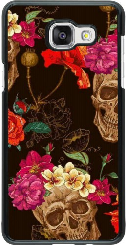 Coque Samsung Galaxy A5 (2016) - Skulls and flowers