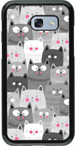 Coque Samsung Galaxy A5 (2017) - Chats gris troupeau