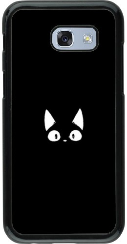 Coque Samsung Galaxy A5 (2017) - Funny cat on black