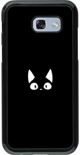 Coque Samsung Galaxy A5 (2017) - Funny cat on black