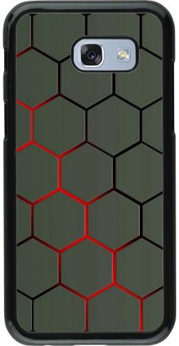 Coque Samsung Galaxy A5 (2017) - Geometric Line red