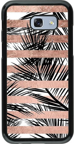 Coque Samsung Galaxy A5 (2017) - Palm trees gold stripes