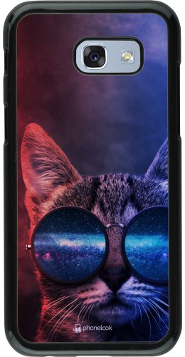 Coque Samsung Galaxy A5 (2017) - Red Blue Cat Glasses