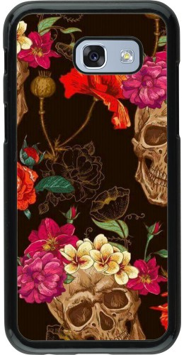 Coque Samsung Galaxy A5 (2017) - Skulls and flowers