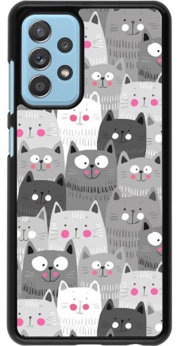 Coque Samsung Galaxy A52 5G - Chats gris troupeau