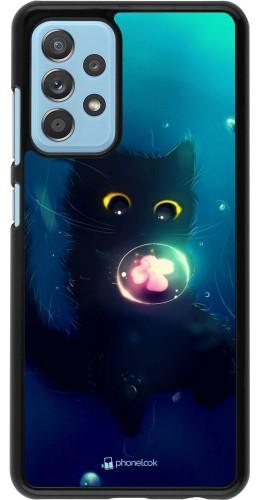 Coque Samsung Galaxy A52 - Cute Cat Bubble