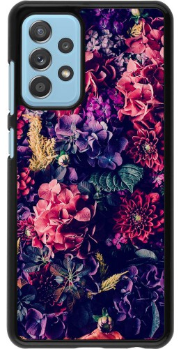 Coque Samsung Galaxy A52 5G - Flowers Dark