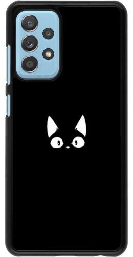 Coque Samsung Galaxy A52 5G - Funny cat on black