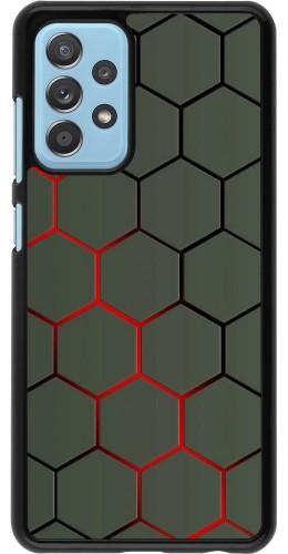 Coque Samsung Galaxy A52 5G - Geometric Line red
