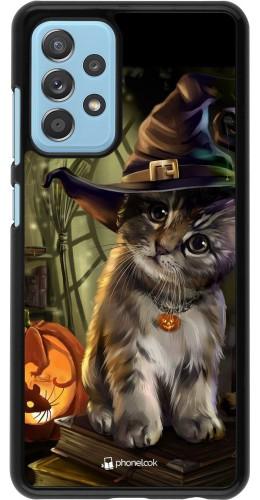 Coque Samsung Galaxy A52 - Halloween 21 Witch cat