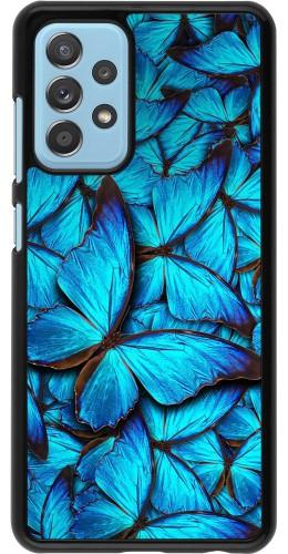 Coque Samsung Galaxy A52 5G - Papillon bleu