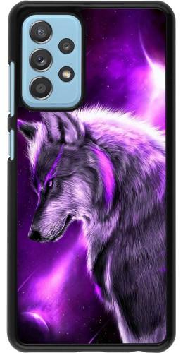 Coque Samsung Galaxy A52 5G - Purple Sky Wolf
