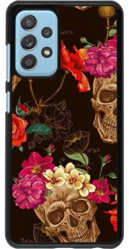 Coque Samsung Galaxy A52 5G - Skulls and flowers