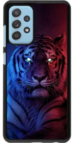 Coque Samsung Galaxy A52 - Tiger Blue Red