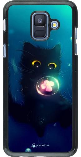 Coque Samsung Galaxy A6 - Cute Cat Bubble