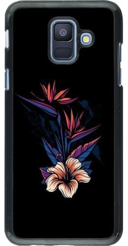 Coque Samsung Galaxy A6 - Dark Flowers