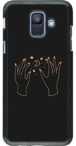 Coque Samsung Galaxy A6 - Grey magic hands