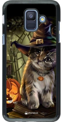 Coque Samsung Galaxy A6 - Halloween 21 Witch cat