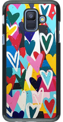 Coque Samsung Galaxy A6 - Joyful Hearts