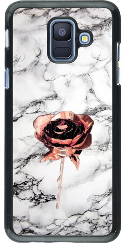 Coque Samsung Galaxy A6 - Marble Rose Gold