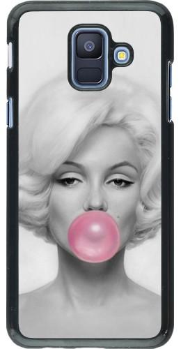 Coque Samsung Galaxy A6 - Marilyn Bubble