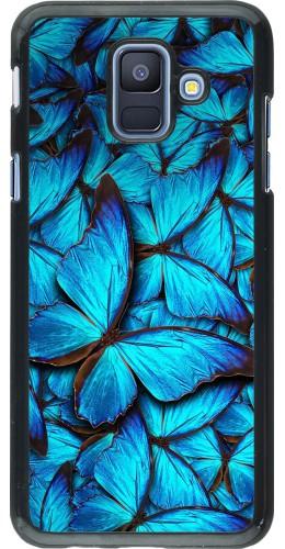 Coque Samsung Galaxy A6 - Papillon bleu