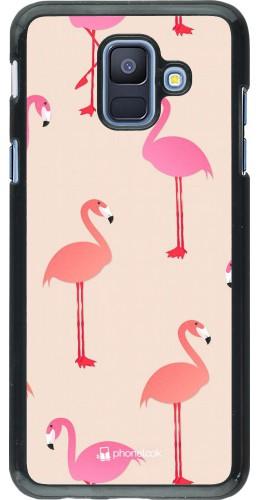 Coque Samsung Galaxy A6 - Pink Flamingos Pattern