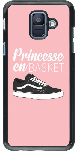 Coque Samsung Galaxy A6 - princesse en basket