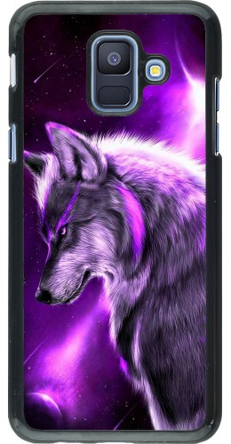 Coque Samsung Galaxy A6 - Purple Sky Wolf