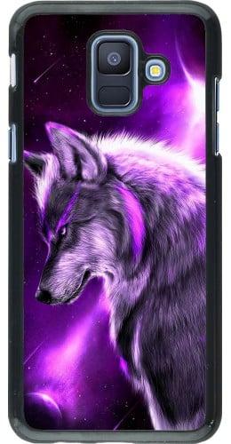 Coque Samsung Galaxy A6 - Purple Sky Wolf