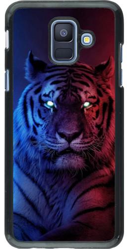 Coque Samsung Galaxy A6 - Tiger Blue Red